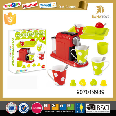 Pretend play kitchen play set coffee maker machine