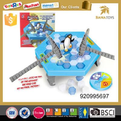 Kids educational toy happy penguin break ice game
