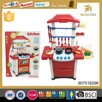 Wholesale cheap plastic tableware kid pretend toy cooking set