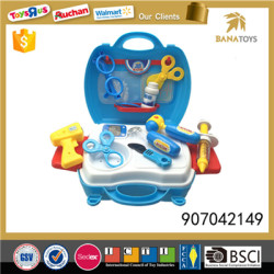 Pretend play set toy docotr kit with light