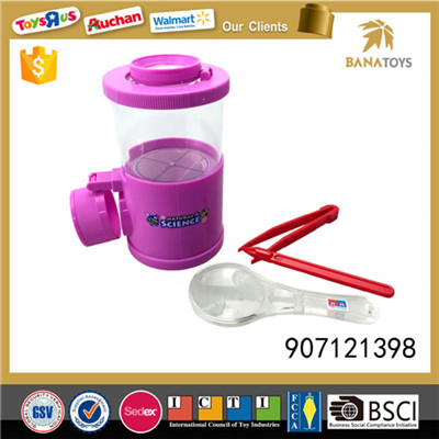 Cup style magnifying glass insect box