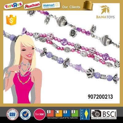 DIY National Wind Plastic Crystal Beads Girl Toy