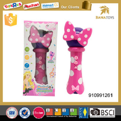 pink musical toy kids ktv microphone