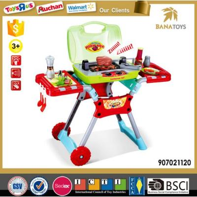 portable handheld and moving cart BBQ toy for kids