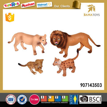 realistic mini lion decorate toy