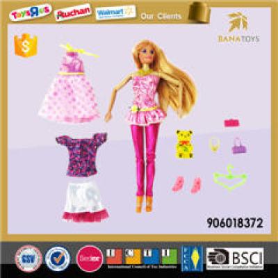 flexible barbie doll dress up play set