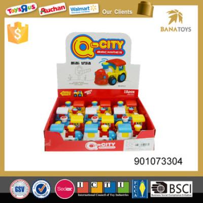 polychrome mini train toy for kids