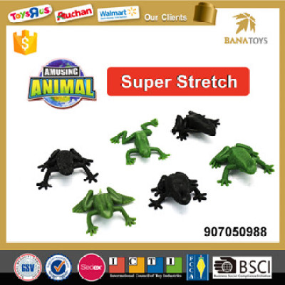 green and black realistic saltatorial frog toy