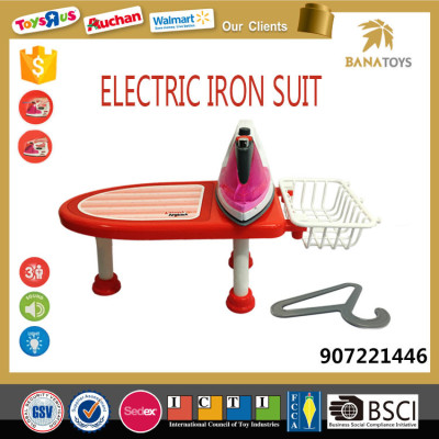 Children funny furniture toys set electric iron suit