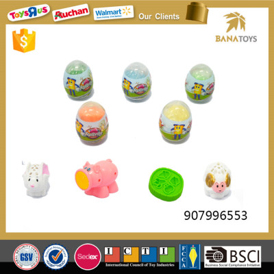 Cute farm pig egg toy for kids
