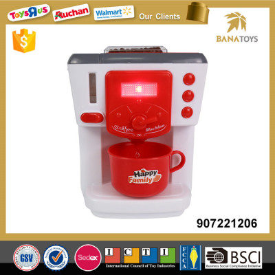 Girl pretend play coffee machine electric toy