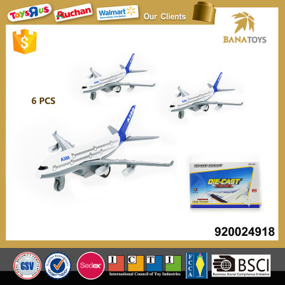Diecast models alloy plane toy for big kids