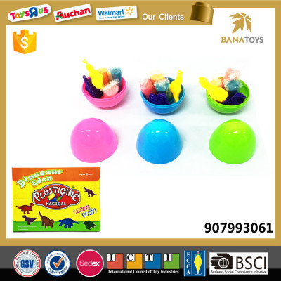 Funny diy plastic egg super light ball clay
