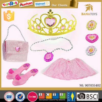 Pink Girl Princess Pretend Play Toy Beauty Set Dress Up Necklace Hairband