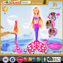 Functional barbie with sound and bubble girl toy