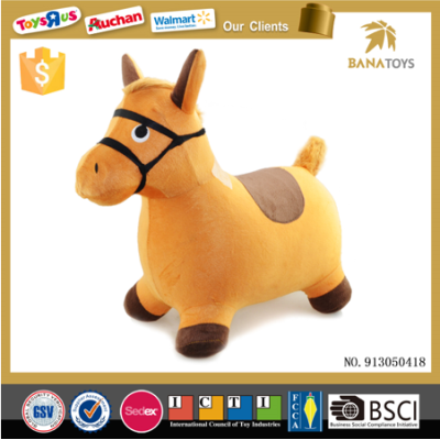 Cute ride on plush horse animal toy