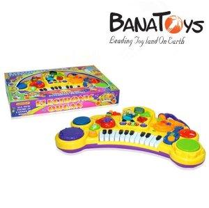 2 in 1 Kid electronic Organ Keyboard Hand Beat Pat Drum  toy Music Instrument Toy