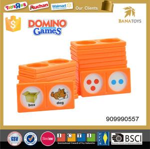 Kids favor plastic colored domino set
