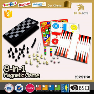 Intelligent 8 in 1board game magnetic chess set