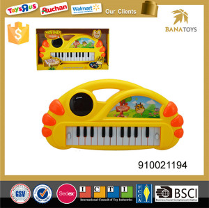 Musical instrument electronic organ keyboard with light