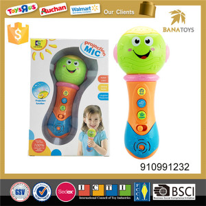 Cute cartoon design kids toy microphone