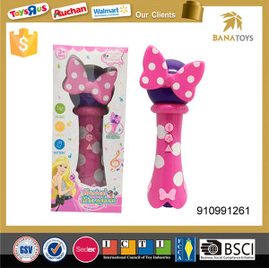Lovely bowtie decoration kids toy microphone