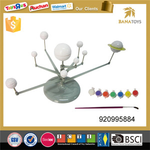 Educational solar system planet diy painting toy