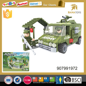 Army soldier plastic toy block for kids educational toy 166pcs