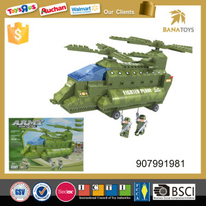Army soldier plastic toy airplane Helicopter building block for kids educational toy aircraft 306pcs