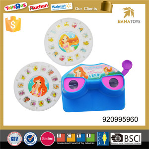 Funny kid toy camera view mermaid projection toy