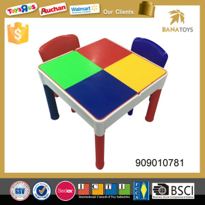 Children educational learning desk chair multifunction Splicing colorful square for kids