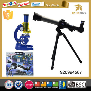 Astronomical telescope and microscope for kids science experiments