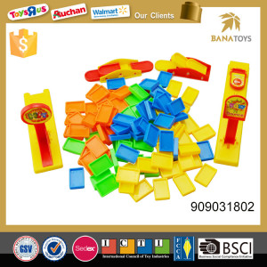 Plastic educational intelligent toy  color domino play set game set family game