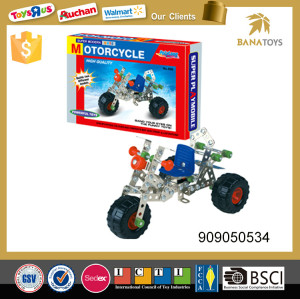 Intelligent Creative mental training motorcycle modle 3D metal puzzle game 208pcs for kids