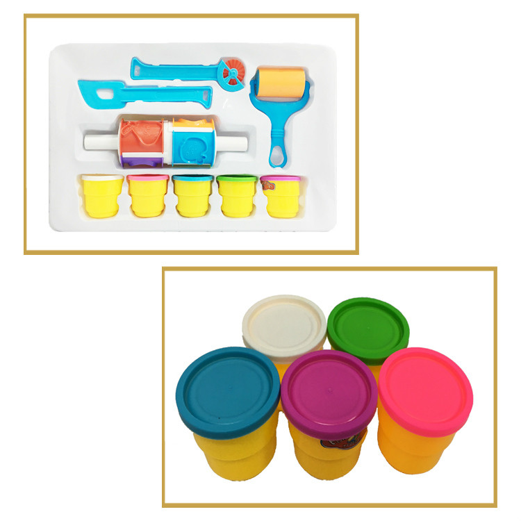 Kids play dough set plasticine modeling clay color mud set for boys and girls