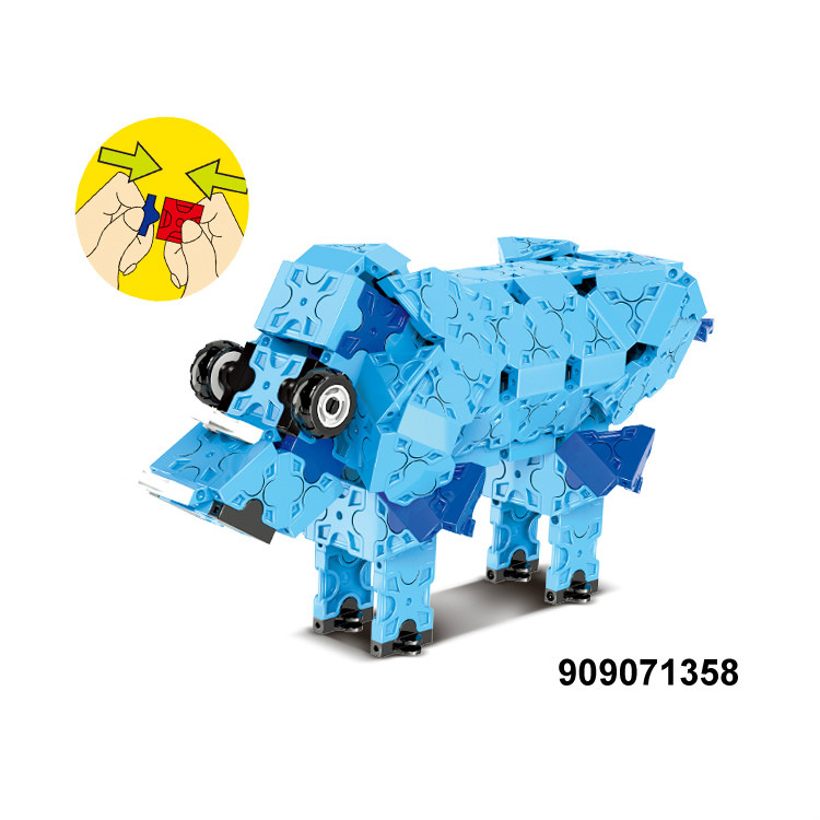 Plastic building game puzzle block for children