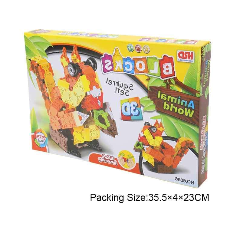 Educational plastic building blocks toys for kids