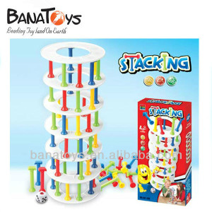 Wholesale plastic stacking toys board game for kids