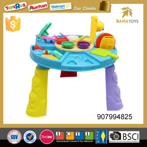 Dough tools play set modeling clay with table