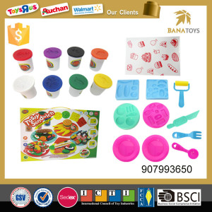 Children play dough biscuits color foam clay