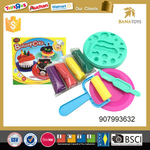 Birthday cake play dough modeling color clay
