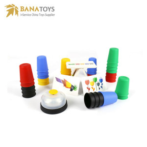 Amusing educational stacking cups game toys for kids