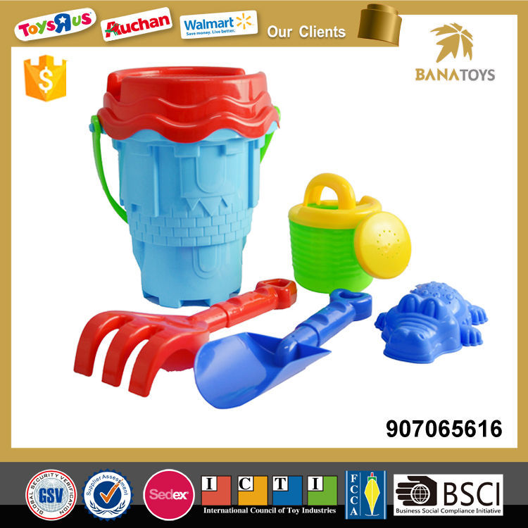 Wholesale items beach bucket with shovels
