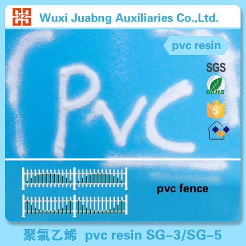 Garantierte Qualität sg5 pvc-harz roh kunststoff für pvc-zaun