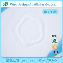 Matières premières en plastique de chlorure de polyvinyle PVC résine pour profilés en PVC