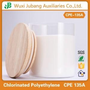 Favorable al medio ambiente de caucho y plástico materia prima clorado addtive cpe 135a