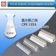 Blanc podwer CPE135A polyéthylène chloré pureté 99% pour PVC conduit de câblage grande qualité