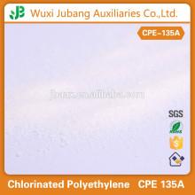 Poudre blanche 99% de pureté polyéthylène chloré cpe135a produits chimiques