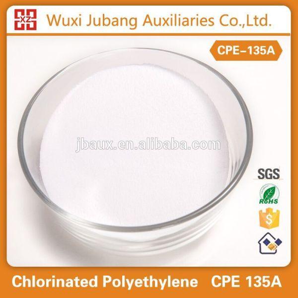Chine fournisseur de polyéthylène chloré, Cpe 135a poudre, Chimique auxiliaires