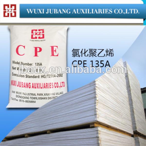 Cpe-135a, Pvc plaques, Polyéthylène chloré, Usine fabricant